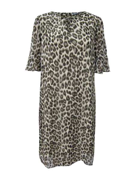 Kleid im Tigerdruck